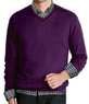 Men's Joseph Cotton Cashmere V-Neck Sweater