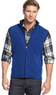 Men's Club Room Zip-Front Mock-Neck Fleece Vest