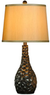 Hammered Walnut Table Lamp