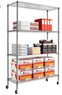4-Shelf Alera Complete Wire Shelving Unit with Caster