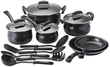 Basic Essentials 16-Piece Non-Stick Steel Cookware Set