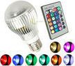 Multi-Color 9-watt LED Lightbulb with Remote Control