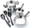 Kitchen a la carte 8pc Stainless Steel Cookware Set