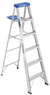 6' Werner Aluminum Step Ladder with 250-lb Capacity