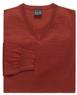 Men's Executive Merino Wool V-Neck Sweater