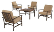 Houston 5-Piece Patio Fire Pit Seating Set