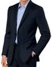 Crossover Slim Fit 2-Button Suit w/ Plain Front Trousers