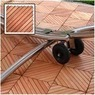 Vifah 12-Slat Diagonal Outdoor Eucalyptus Wood Deck Tiles