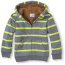 Boys' Striped Zip-Up Sherpa Hoodie
