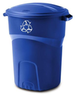Rubbermaid Roughneck 32 Gal Recycling Bin