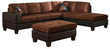 Venetian Worldwide Dallin Sectional Sofa w/ Ottoman