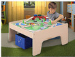 Wooden Activity Table w/ 45-Piece Train Set and Storage Bin