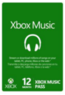 12-Month Xbox Music Pass