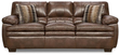 Simmons Upholstery Brown Editor Padded Arm Sofa