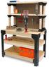 2x4Basics Workbench and Shelving Storage System