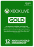 Microsoft Xbox Live 12-Month Gold Digital Membership Card