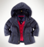 Ralph Lauren Baby Girls' Channel-Quilted Down Jacket