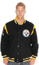 Men's NFL Two Minute Drill Varsity Jacket with Leather Trim