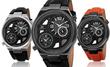 Joshua & Sons Men's Swiss Dual-Time Watch