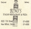 Bino's Italian Restaurant and Pizza Coupons Rockford, IL Deals